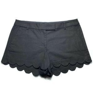J. Crew White Scallop Linen-Blend Shorts